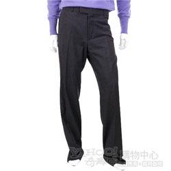 BOSS 深灰色細斜紋西裝褲