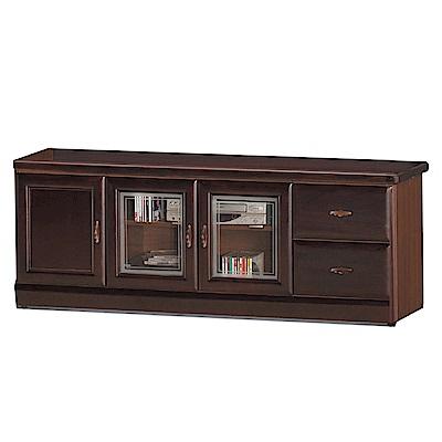 品家居 瑪夏5.3尺胡桃木紋實木長櫃/電視櫃-160x45x60.5cm免組
