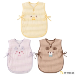 Nishiki 日本株式會社 可愛動物條紋寶寶午睡背心防踢背心