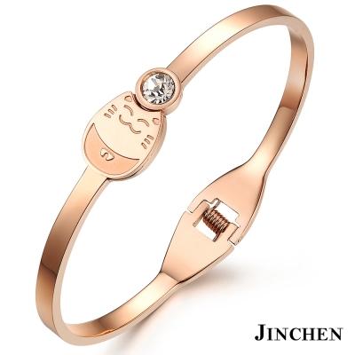JINCHEN-白鋼招財貓手環
