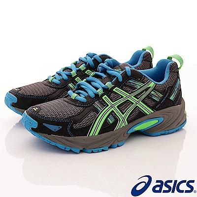asics競速童鞋 競速避震運動款 FI84N-9685黑藍(中大童段)