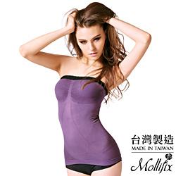 Mollifix瑪莉菲絲 鎖骨美學完美肩線平腹輕塑衣(煙灰紫)