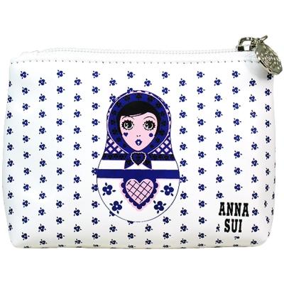 ANNASUI-安娜蘇-Dolly洋娃娃零錢包-藍