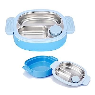 英國貝氏 BERZ注水保溫不銹鋼餐盤 藍色