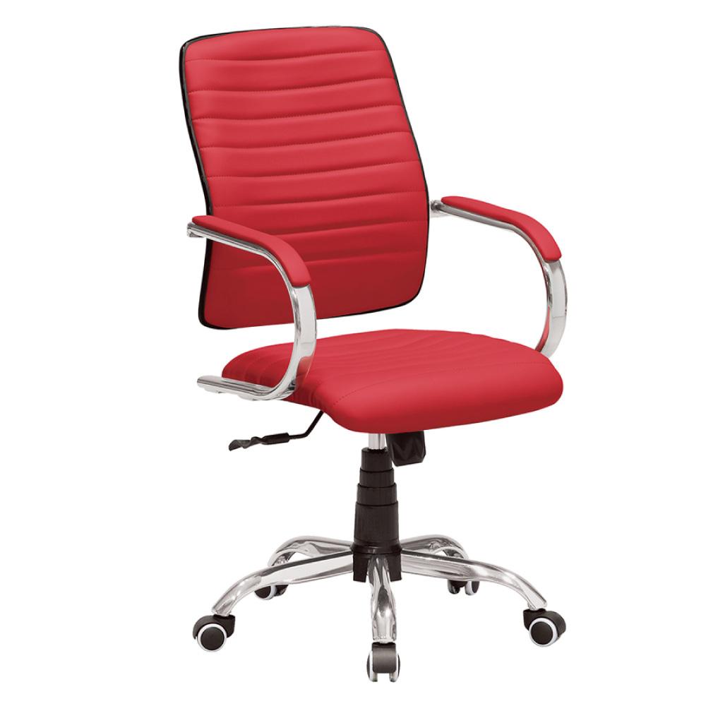 GD綠設家 瑪迪思皮革低背辦公椅(三色可選)-57x63x96cm免組