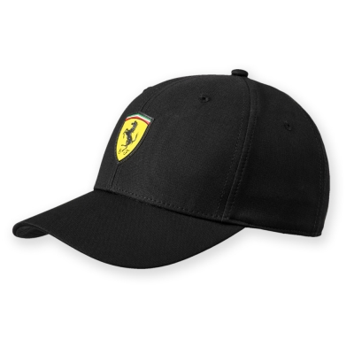 PUMA-男女Ferrari車迷系列棒球帽-黑色