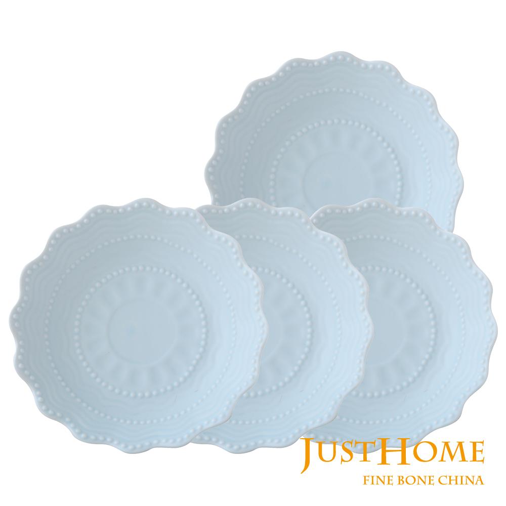 Just Home暖兔陶瓷6吋點心盤4件組