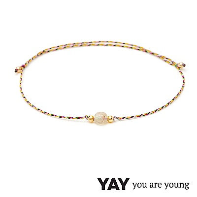 YAY You Are Young 法國品牌 Jimie 灰瑪瑙編織手鍊 金色
