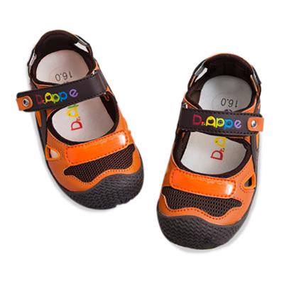 【Dr. Apple 機能童鞋】活潑亮彩護趾休閒鞋 橘