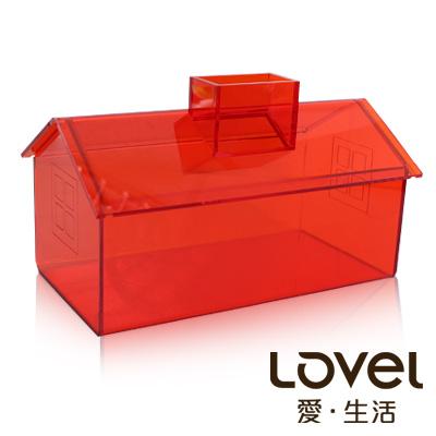 ~Lovel~加拿大 家飾~面紙盒 紙巾盒 陽光橘