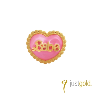 鎮金店Just Gold 黃金釉彩單耳耳環 繽紛派對 寶貝甜心
