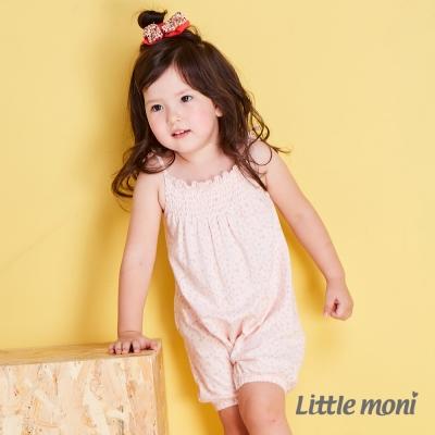 Little moni 清柔條紋細肩帶連身裝 印花