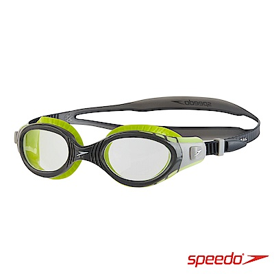 SPEEDO 成人運動泳鏡 Futura Biofuse 萊姆綠/深灰