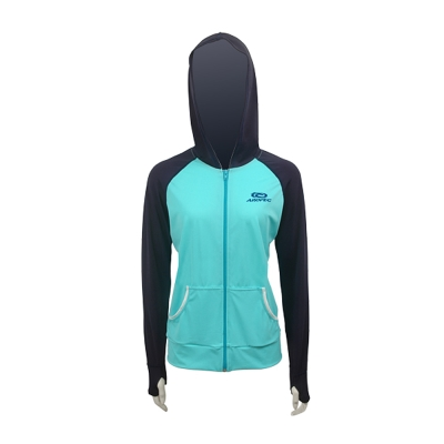 AROPEC Cooler 冷卻女款連帽防曬外套 深藍