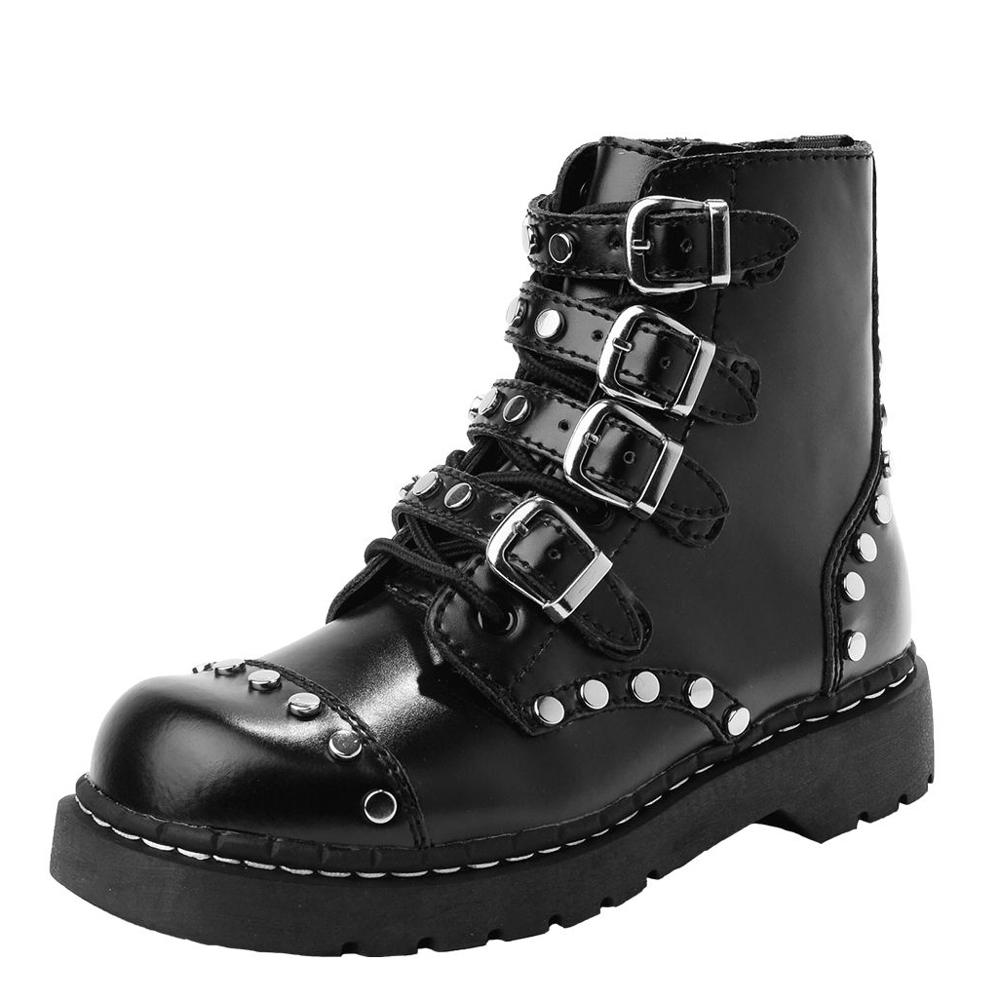 TUK 經典7孔鉚釘金屬扣環軍靴-黑