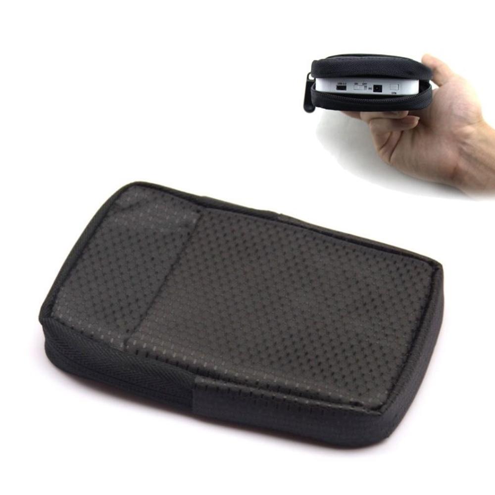 DataStone 3C多功能防震/防水軟布收納包(適2.5吋硬碟/行動電源/3C)-黑色