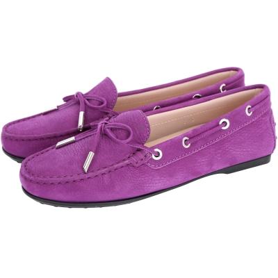 TOD'S City Flake 綁帶膠底豆豆休閒鞋(女鞋/紫色)