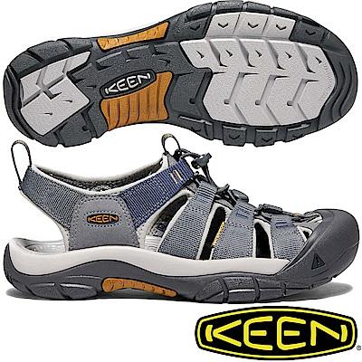 KEEN 1018816鐵灰/灰藍 Newport Hydro男戶外護趾涼鞋
