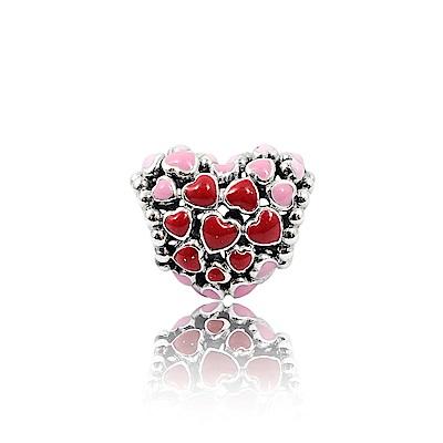 Pandora 潘朵拉 魅力粉紅愛心 純銀墜飾 串珠