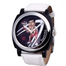 NBA 美國職籃 姚明 休士頓火箭隊球星腕錶-白/45mm