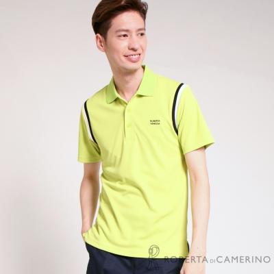 ROBERTA諾貝達 吸濕排汗 高爾夫短袖POLO棉衫 明綠