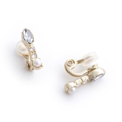 JewCas Air Earrings系列典雅氣質水晶空氣耳夾_JC2442