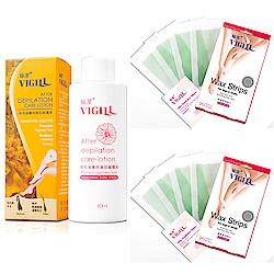 VIGILL 婦潔 蘆薈除毛貼片2盒組+除毛後專用美肌修護液(16片/2盒+修護液80m)