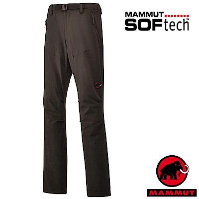 【MAMMUT 長毛象】男 SOFtech 4D彈性防潑水軟殼長褲_野牛棕