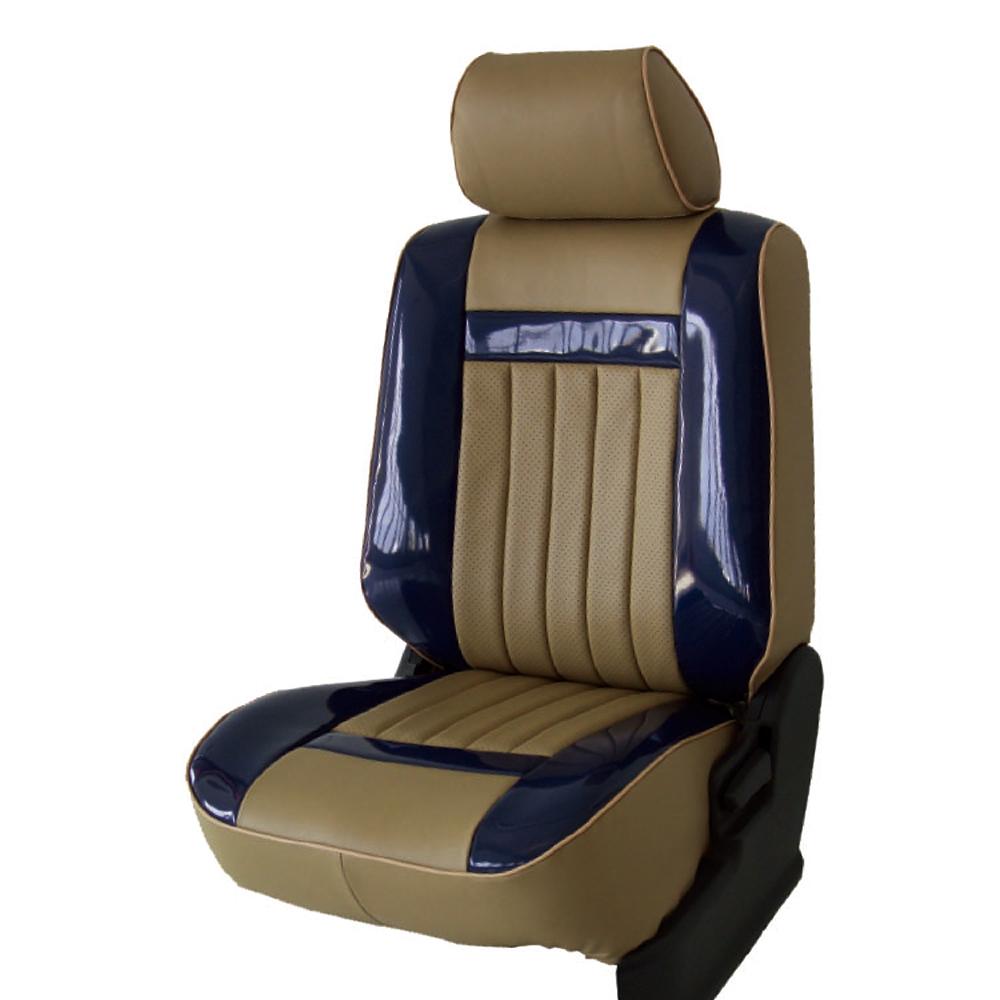 【葵花】量身訂做-汽車椅套-日式合成皮-開運條紋-亮皮-休旅車-6-8人座款1+2+3排