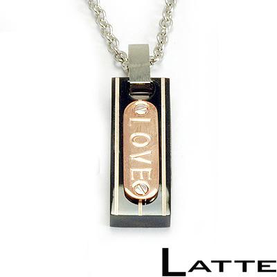 【LATTE】甜蜜夾心刻字不鏽鋼項鍊(女)