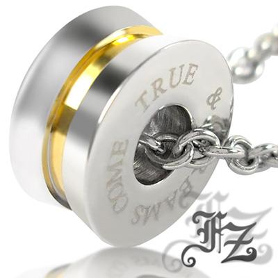 【FZ】金色浪慢情懷白鋼項鍊(小款)