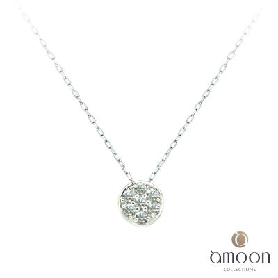 amoon 日式鉑金系列 團圓 鉑金鑽石項鍊