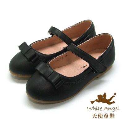 天使童鞋-F5048B 淑女蝴蝶結公主鞋(中-大童)-黑