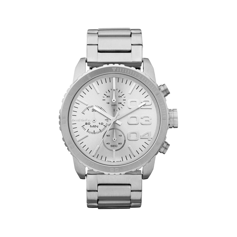 DIESEL 忍者戰將時尚計時腕錶-銀/42mm