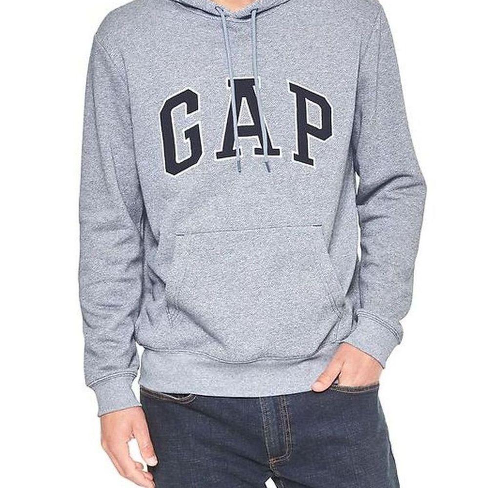 GAP 男生 長袖 帽T 灰色 0474
