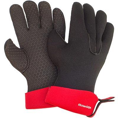 CUISIPRO 五指止滑隔熱手套(黑S一對)