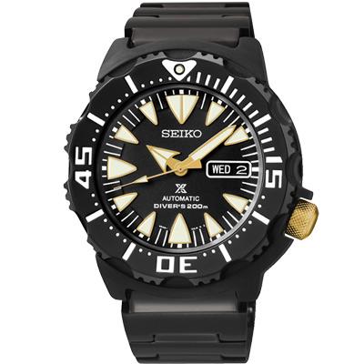 SEIKO PROSPEX 運動泳將200米潛水機械錶(SRP583J)-鍍黑/42mm