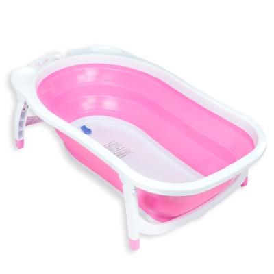 Karibu凱俐寶-時尚折疊式嬰幼浴盆-櫻花粉