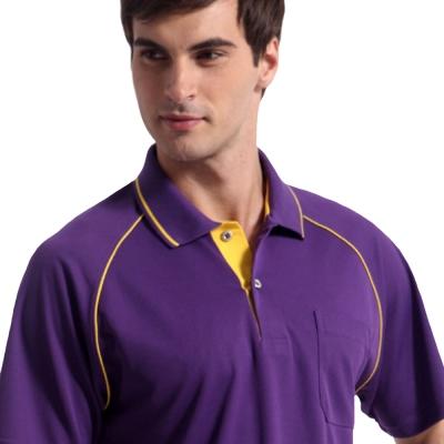 【Sunrise】88116典雅暗紫★短袖POLO男版襯衫