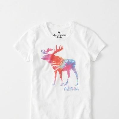 AF a&f Abercrombie & Fitch KID T恤 白色 0028