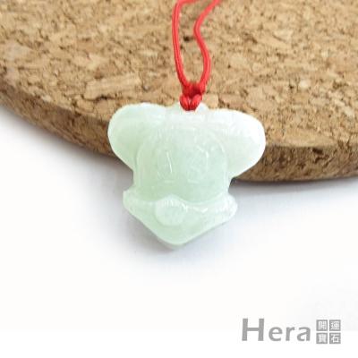 Hera特選A貨翡翠可愛米奇項鍊-孩童版
