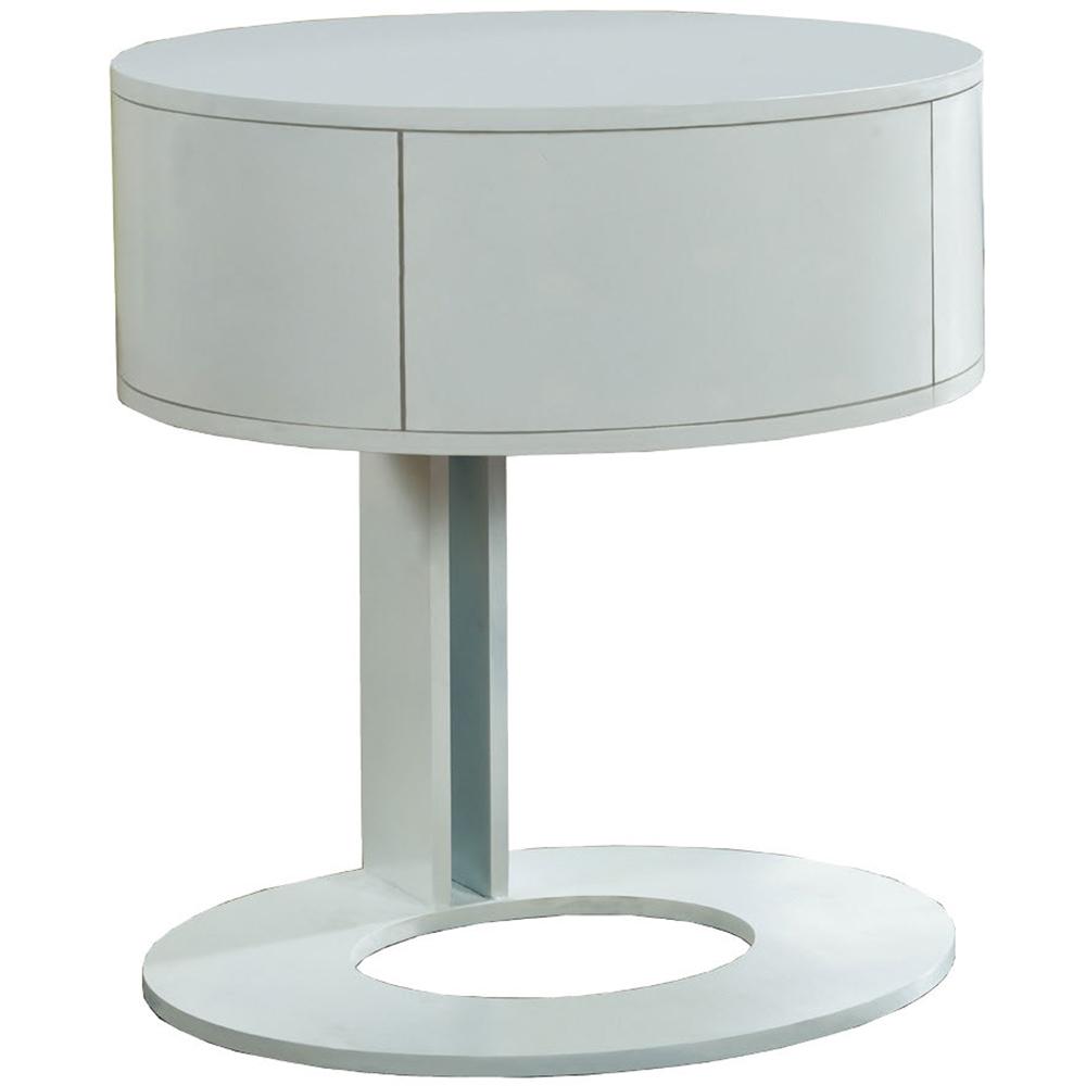 AT HOME-席拉單抽白色鐵架床頭櫃(50*40*55cm)
