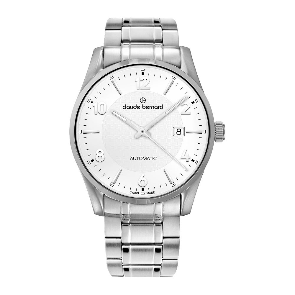Claude Bernard Classic 系列時尚機械腕錶-銀/42mm