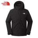 The North Face北面男款黑色防風堅固耐久衝鋒衣