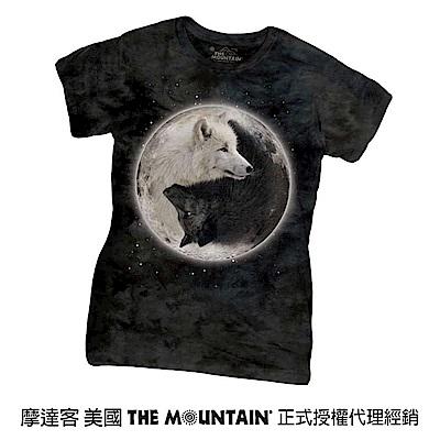 摩達客 美國進口The Mountain 陰陽狼 短袖女版T恤