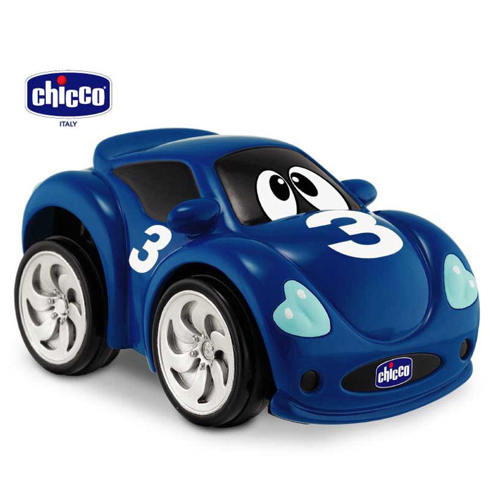 chicco-壓壓樂藍色跑車