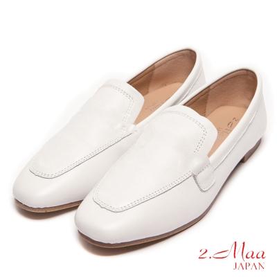 2.Maa-個性時尚經典義式樂福鞋-白
