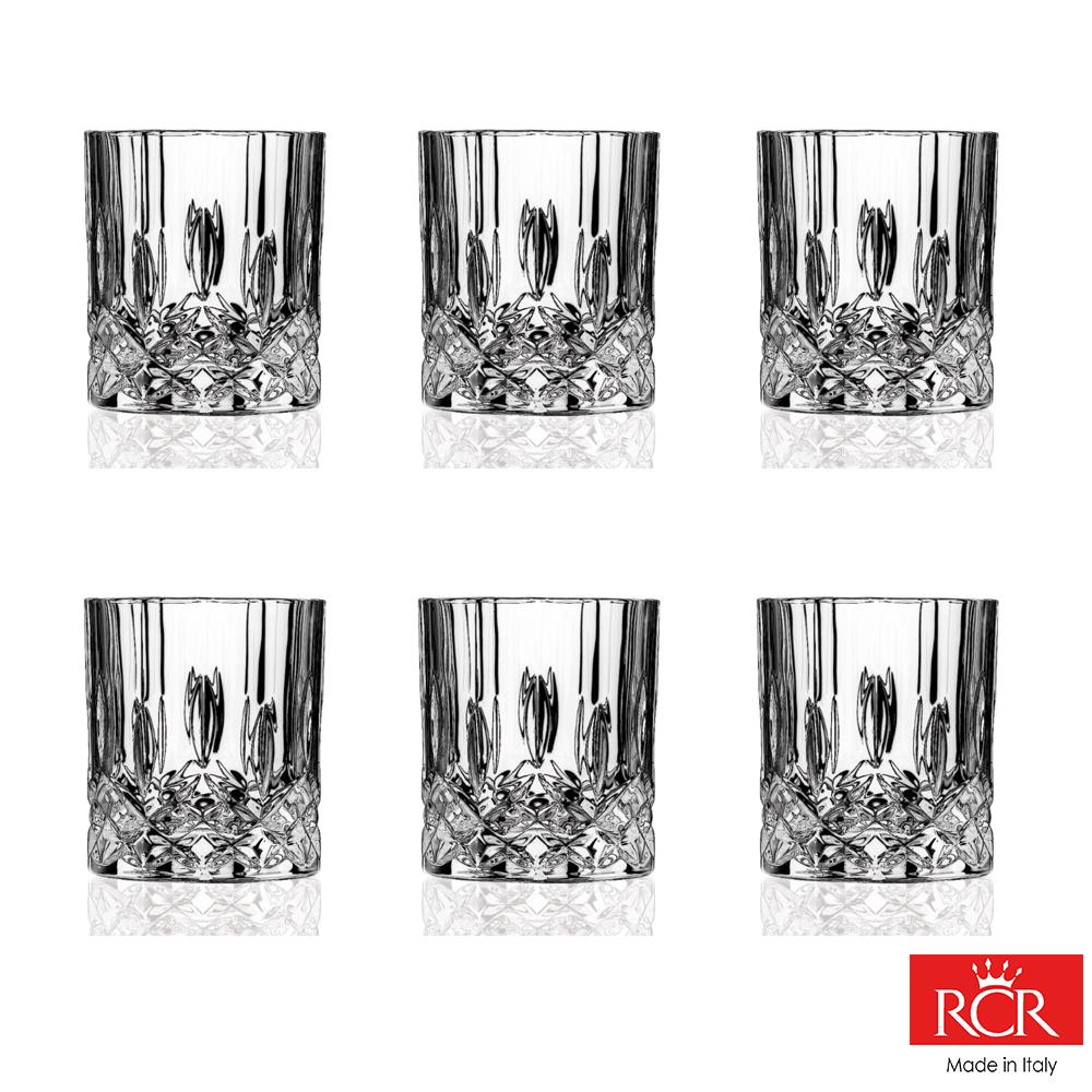 義大利RCR歐普拉無鉛水晶威士忌杯(6入)210cc