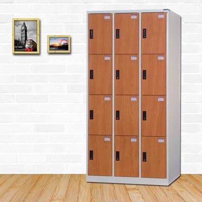 時尚屋 丹尼爾多用途塑鋼製12格置物櫃 寬90x深40x高180cm
