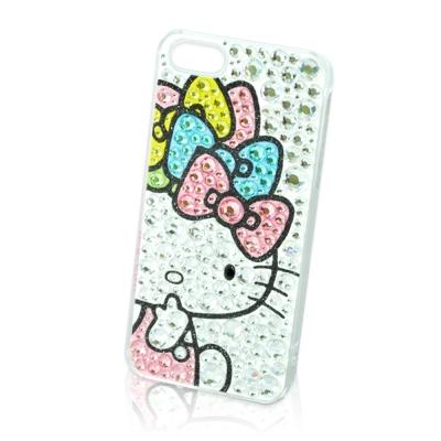 Hello Kitty IPHONE 5/5S/SE 閃亮水鑽手機殼